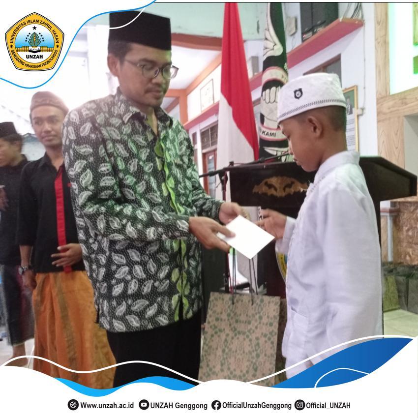 Berbagi Dibulan Ramadhan, Mahasiswa UNZAH Santuni 50 Anak Yatim.