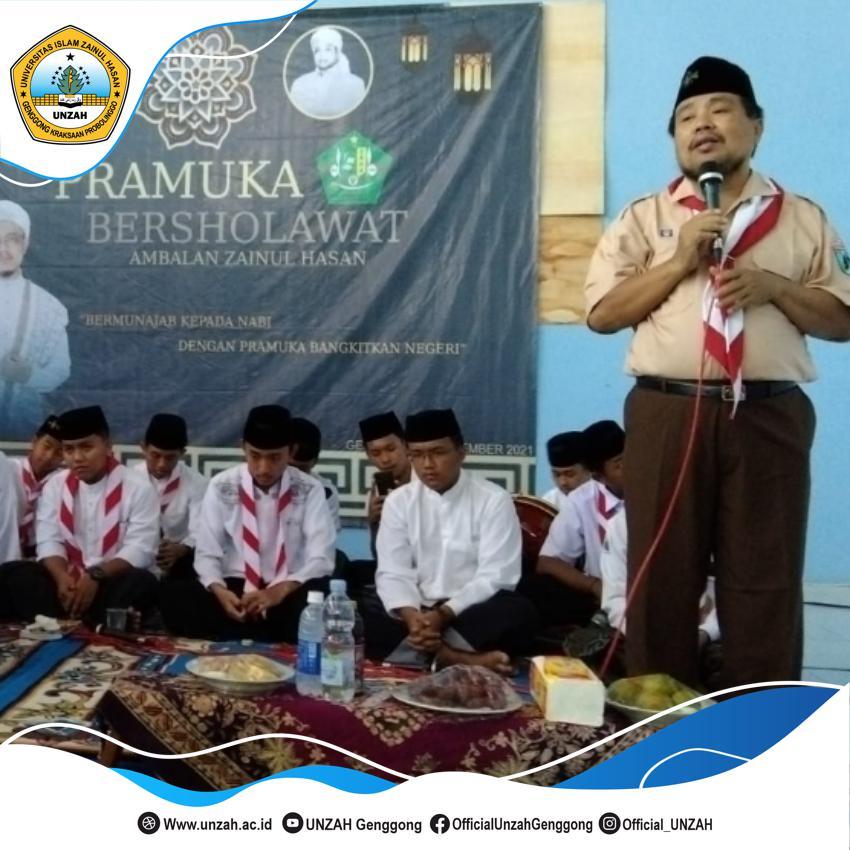 Dukung Gerakan Pramuka, Rektor UNZAH Ajak Santri Bershalawat Bersama.
